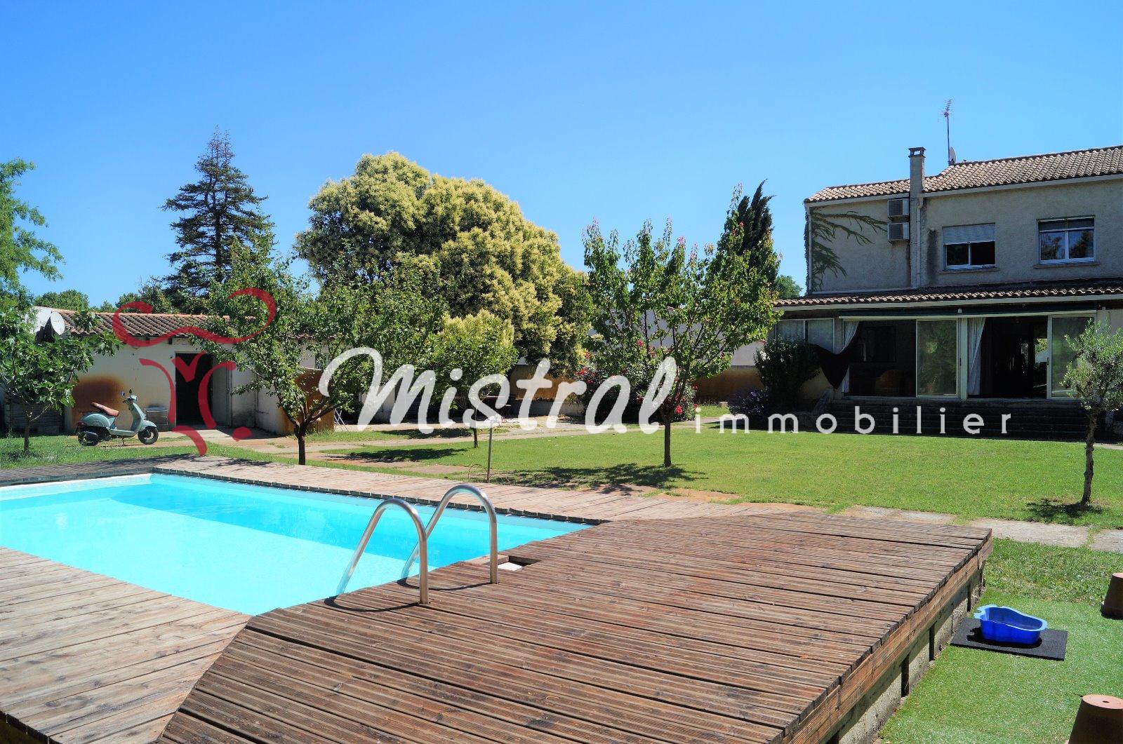 Vente vente maison st laurent d 39 aigouze 5 chambres sur 1400m de terrain piscine garage - Piscine st laurent de chamousset ...